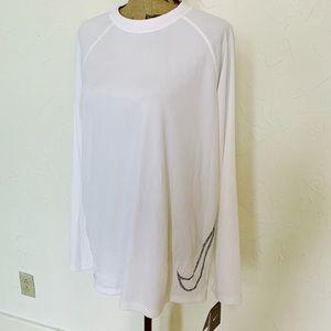 NWT Nike Women's Dri Fit Shirt | White Sz L